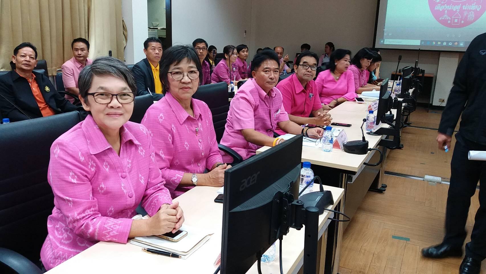 ร่วมประชุมต้อนรับคณะกรรมการโครงการสมาชิกวุฒิสภาพบประชาชนในพื้นที่ภาคตะวันออกเฉียงเหนือ (ตอนบน)